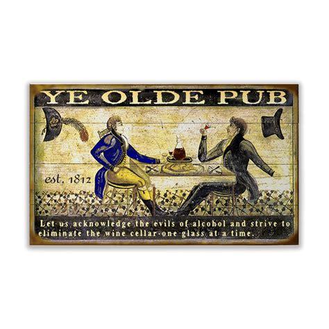 ye olde pub sign  wood signs