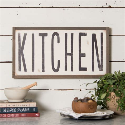 signs quot kitchen quot wooden sign magnolia chip joanna gaines Kitchen