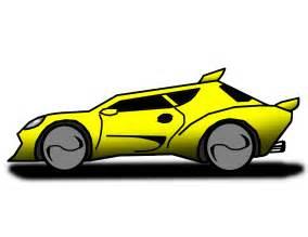 Cartoon Race Car Side View