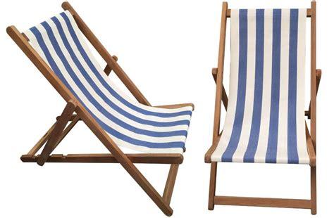 Blue & White Stripe Deckchair  Soccer Stripe The