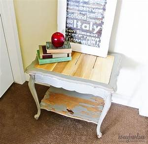 Replace a Glass Table Top with Wood Planks - Honeybear Lane