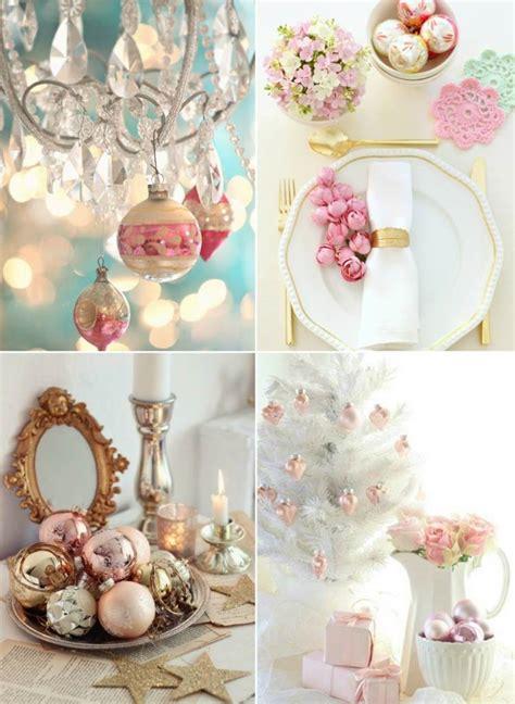 weihnachtlich dekorieren  pastellfarben fuer ein