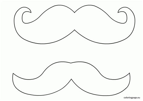 Mustache Print Out Template by Mustache Coloring Pages Coloring