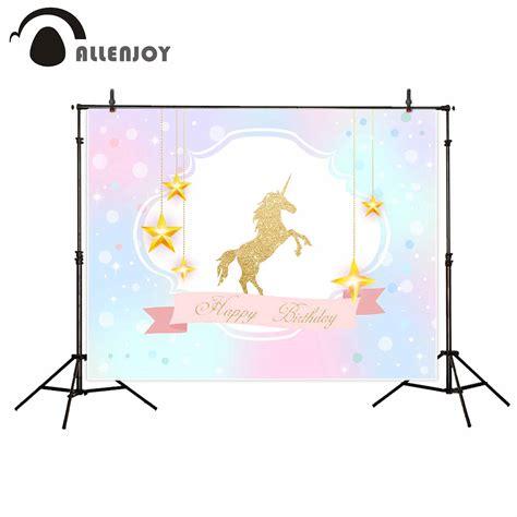 allenjoy background photography unicorn birthday party