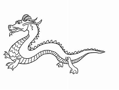 Dragon Pages Printable Coloring Chinese Colouring Printablecolouringpages