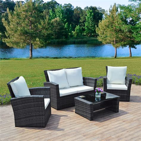 how to buy wicker garden furniture on a budget out out 4 grey algarve rattan sofa set for patios