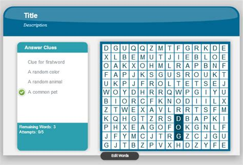 word search game  powerpoint  adobe presenter