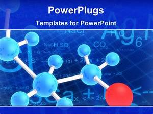Powerpoint template diagram of molecule structure with for Power plugs powerpoint templates