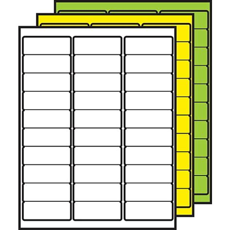 demco label templates demco 174 colored multipurpose processing labels 1 quot x 2 5 8 quot demco