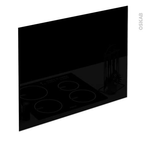 hotte de cuisine noir fond de hotte cuisine verre noir l90 x h65 x e0 4 cm