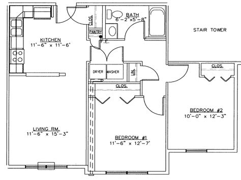 2 Bedroom House Simple Plan 2 Bedroom House Floor Plans
