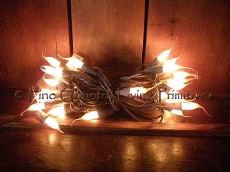 primitive silicone tipped string lights on brown cord 50