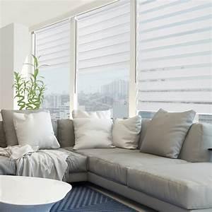 Store Enrouleur Blanc : store enrouleur jour nuit blanc moderne salon ~ Edinachiropracticcenter.com Idées de Décoration