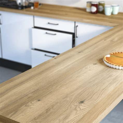 table de cuisine en stratifié plan de travail stratifié effet chêne boréal mat l 300 x p