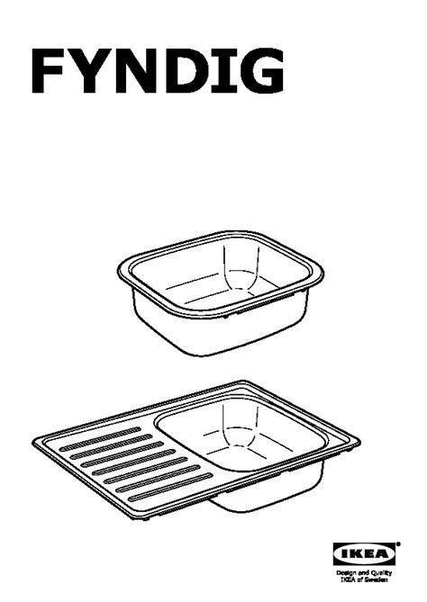 fyndig single bowl inset sink stainless steel ikea united