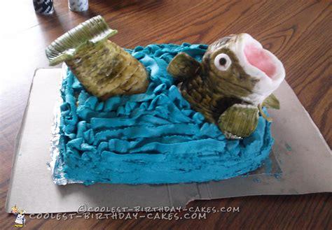 coolest bass fish birthday cake