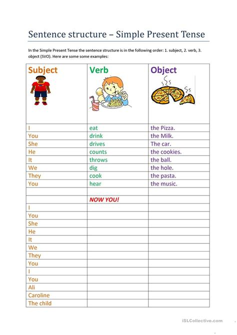 present simple sentence structure questions and answers worksheet free esl printable