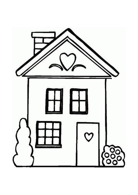 coloriage maison cœur hugolescargot