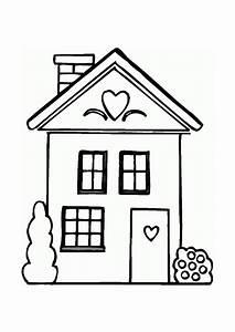 coloriage maison coeur With dessin de maison facile