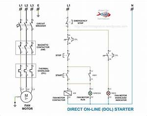 Oil And Gas Electrical And Instrumentation Engineering  Dol Starter For Fan Motor