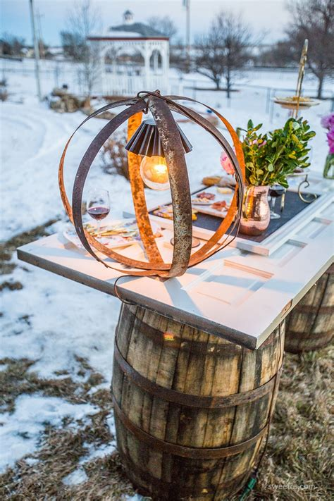 rustic wine barrel ring light diy sweet cs designs