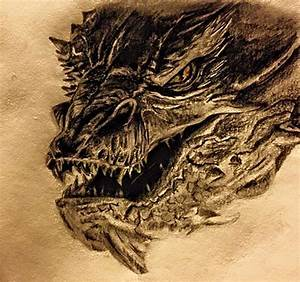 Smaug Pencil Drawing by SerinsDrawings on DeviantArt