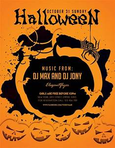 Halloween party freebie flyer template download for photoshop for Free halloween flyers templates