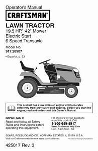 Craftsman Lawn Mower 917 289071 User Guide