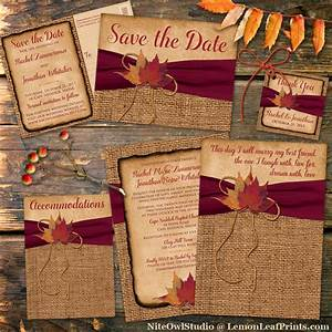 rustic country wedding invitation autumn leaves on faux With wine red and gold wedding invitations