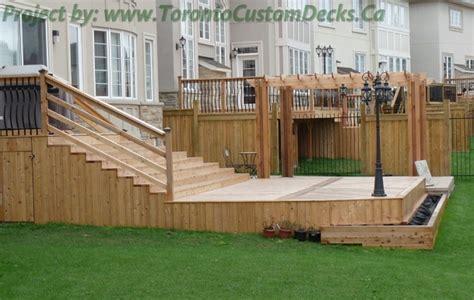 toronto custom deck design pergolas fences outdoor