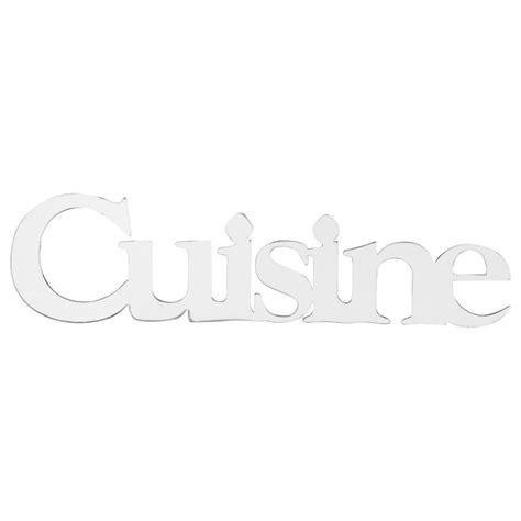 stickers miroir cuisine sticker miroir quot cuisine quot 32cm argent