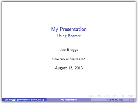 What To Put On A Cover Page For A Resume by Presentations With Beamer Pt 1 Getting Started Sharelatex Editor