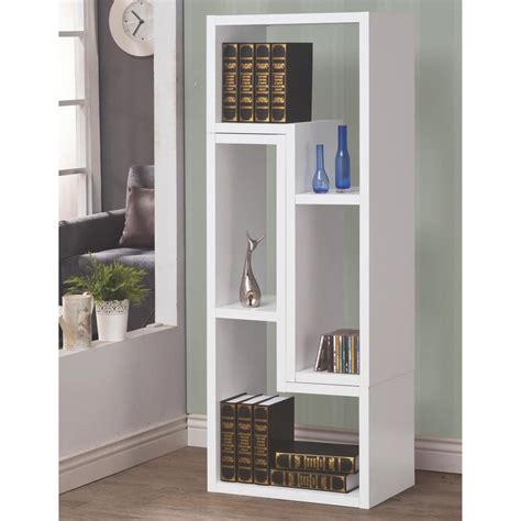 White Bookcase by Venetian Worldwide Milz White Bookcase V 800330 The Home