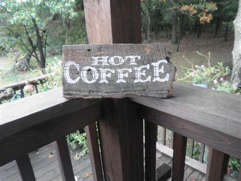 Barnwood Coffee Sign Reclaimed Old Barn Wood