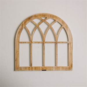 Arched Wooden Window Frame - Magnolia | Chip & Joanna Gaines