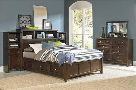 Whittier Wood Furniture Bookcase Storage Bed M