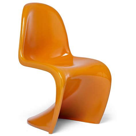 chaises orange 4 chaises type panton orange discount design