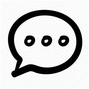 Chatting, conversation, doodle, speech bubble, talking icon