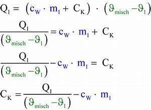 Verdunstung Wasser Berechnen Formel : 7 kalorimetrie ~ Themetempest.com Abrechnung
