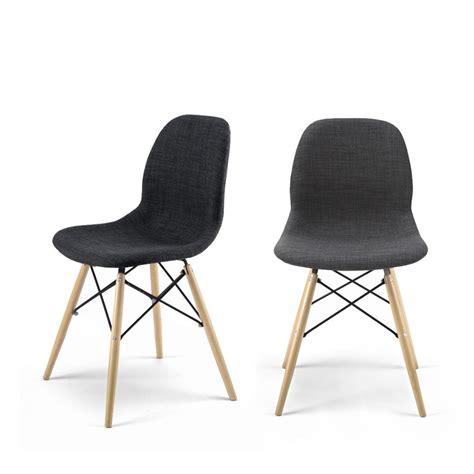 lot chaises chaise design en tissu style eames pied dsw doki doki