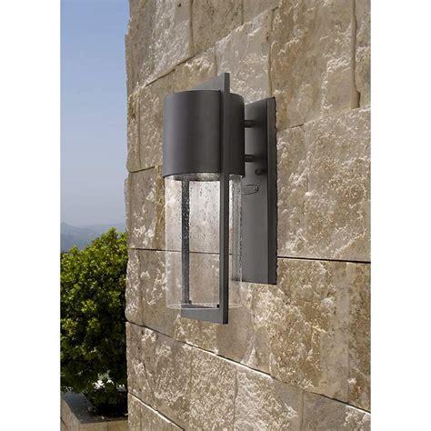 hinkley shelter 20 1 2 quot high black outdoor wall light hinkley shelter 15 1 2 quot high black outdoor wall light