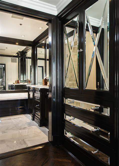 mirrored closet cabinets transitional closet