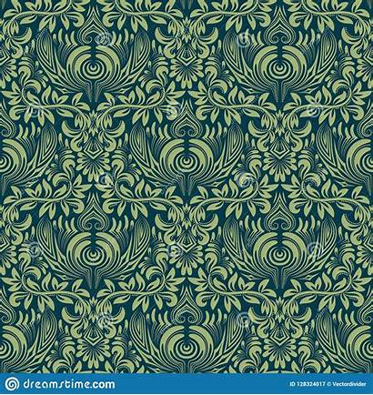 Damask Baroque Repeating Seamless Ornament Floral Pattern