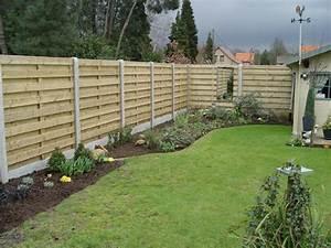 Palissade De Jardin : palissade de jardin en bois cloture separation jardin ~ Melissatoandfro.com Idées de Décoration