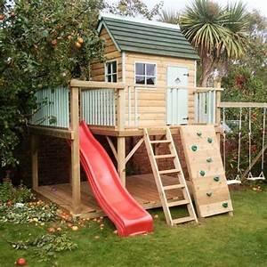 die besten 25 kinderspielhaus ideen auf pinterest With französischer balkon mit kletterturm kinder garten