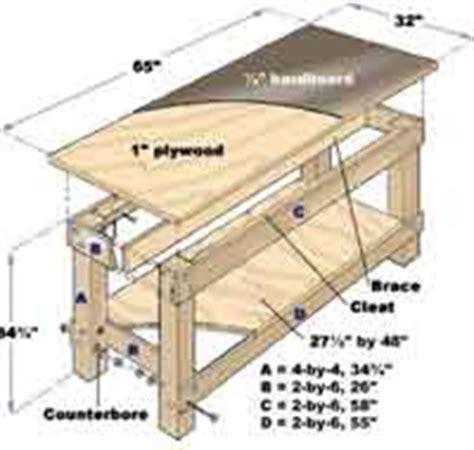 workbench woodcraft plans  allcraftsnet
