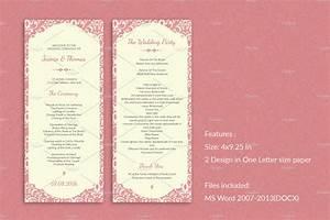 wedding ceremony program templates free elegant wedding program template invitation templates