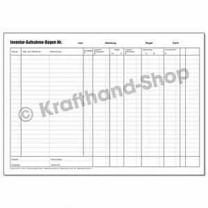 Krafthand inventurliste online kaufen for Bestellliste muster