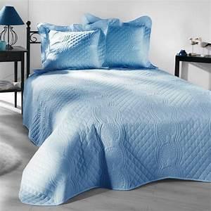Couvre Lit Bleu Canard : couvre lit 230 x 250 cm matelass nocturne bleu couvre lit boutis eminza ~ Teatrodelosmanantiales.com Idées de Décoration
