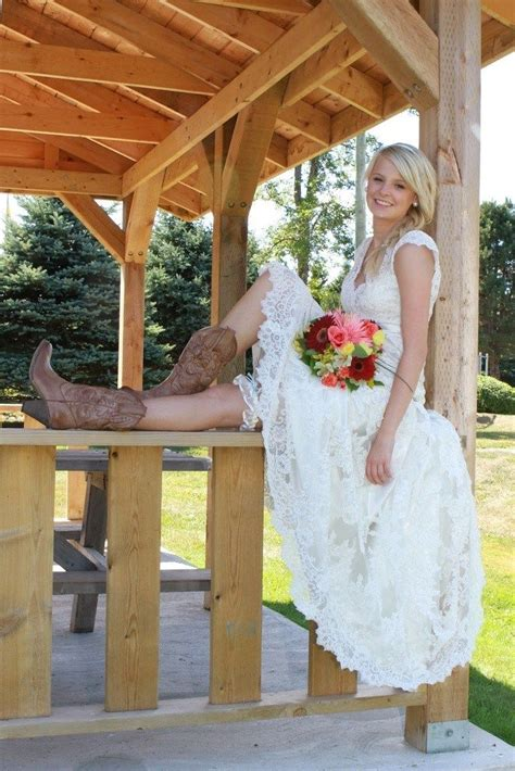 wear cowboy boots   wedding dress country